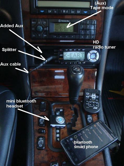 Easy to add bluetooth to your added Aux input - Mercedes