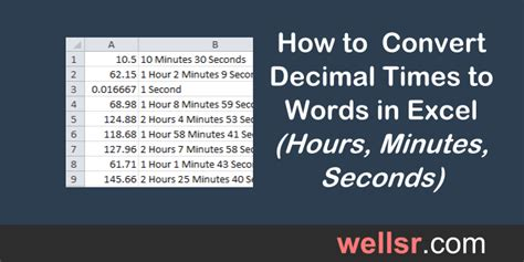 Convert Decimal Time to Hours Minutes Seconds with VBA