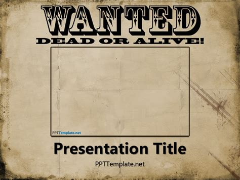 Free Wanted Poster Template for PowerPoint