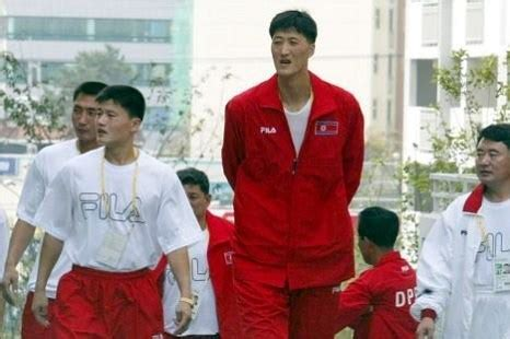 'Giant North Korean soldier' rumoured to be basketball