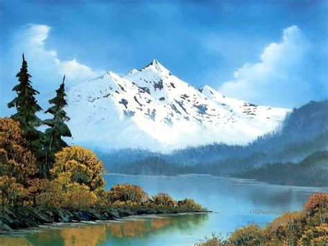 Oil Paintings of 3 peaceful waters Bob Ross Art for sale