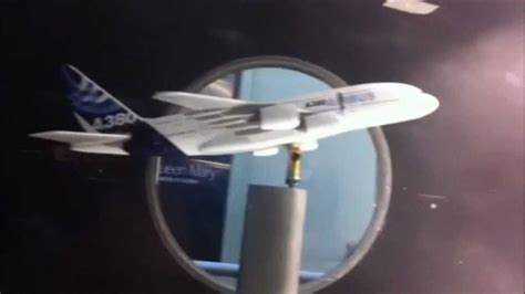 A380 Wind tunnel testing - YouTube