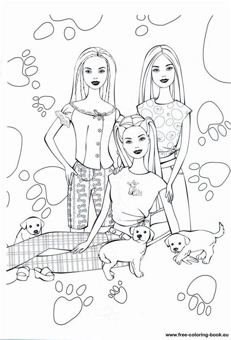 Coloring pages Barbie - Page 1 - Printable Coloring Pages