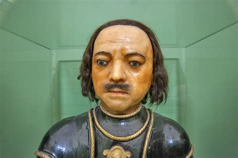 Photo 1720-16: Wax head of Peter the Great in Mikhaylovsky