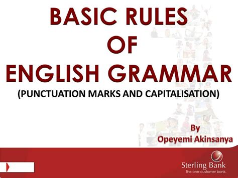 Punctuation Marks and Capitalisation in English - English