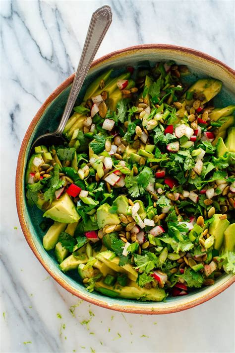 Fresh Herbed Avocado Salad Recipe - Cookie and Kate
