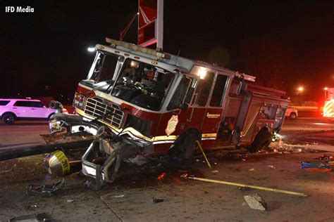 Indianapolis Fire Truck Involved in Head-On Collision