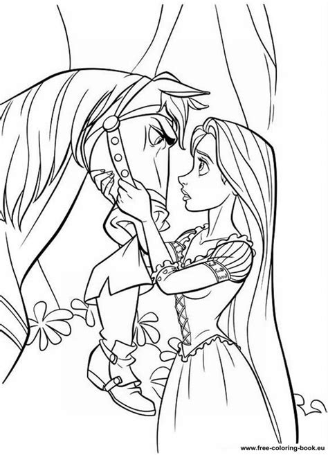 Coloring pages Tangled (Disney) - Rapunzel - Page 1