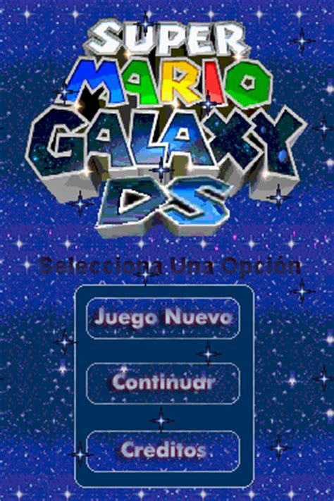 Super Mario Galaxy DS (Demo 3) (NDS Game) › Nintendo DS