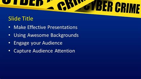 Free Cybercrime PowerPoint Template - Free PowerPoint