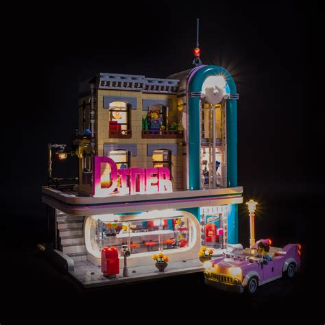 LEGO Downtown Diner 10260 Review & Lighting Journal