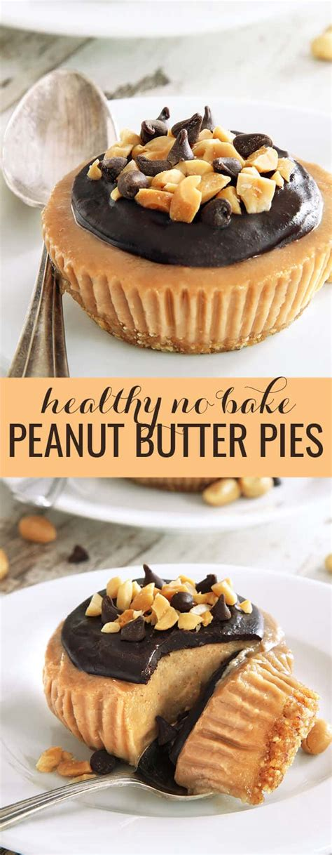 No Bake Peanut Butter Pies | Great gluten free recipes for