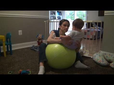 Torticollis Exercise using Stability Ball - YouTube