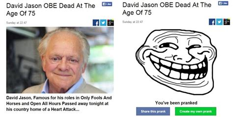 Hoax Busted: 'Only Fools and Horses' Actor David Jason is