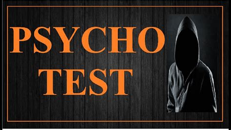 Psychopath Test : Are You Psycho? - YouTube