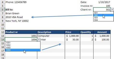 Automated Invoice in Excel - Easy Excel Tutorial