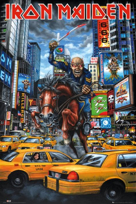 Iron Maiden posters for sale - Iron Maiden New York poster