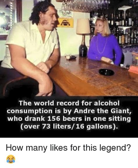 The World Record for Alcohol Consumption Is by Andre the