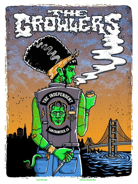 THE GROWLERS @ The Independent, SF - 2017 & variants