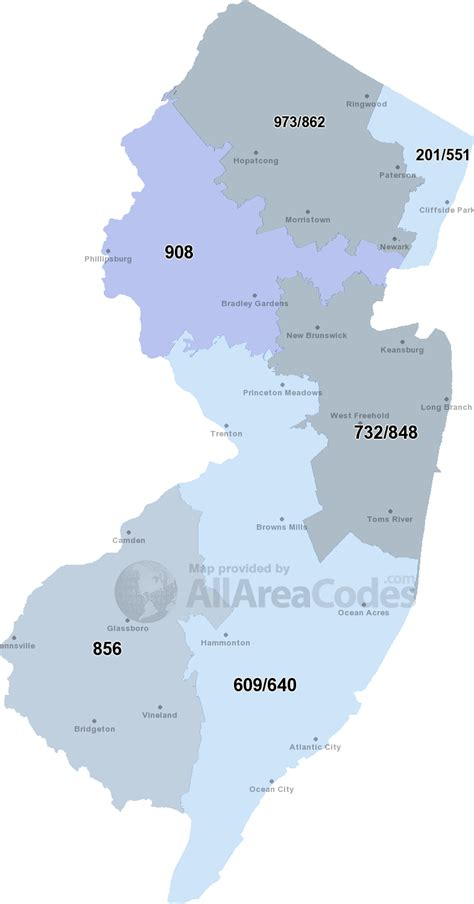908 Area Code 908 - Map, time zone, and phone lookup