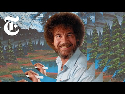 Oil Paintings of 3 quiet pond Bob Ross Art for sale by Artists