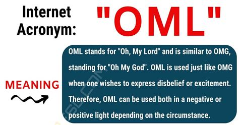 OML Meaning: What Does OML Stand For? (with Interesting