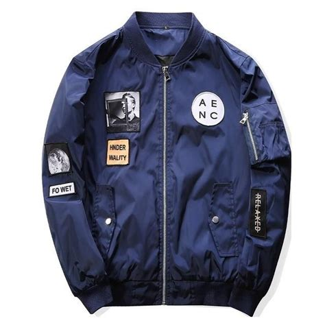 AENC Pilot Bomber Jacket   Bomber jacket patches, Fitted